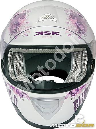Motodor-Casco Moto Integral Mujer Purple KSK (L / 59-60cm)