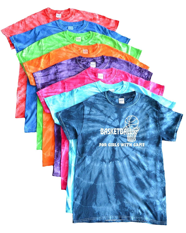 Basketball Tie Dye T-Shirt-For Girls with Game Logo VarsityGirl.net