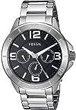 Fossil Men's Modern Century Quartz Stainless Steel Chronograph Watch, Color: Silver (Model: BQ2296)