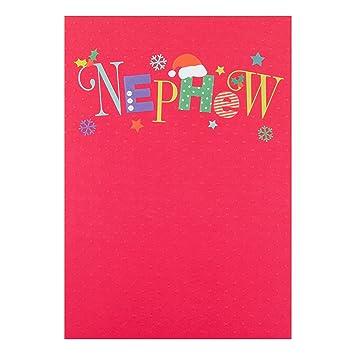 Hallmark Weihnachtskarte für Neffen, mittelgroß: Amazon.de ...