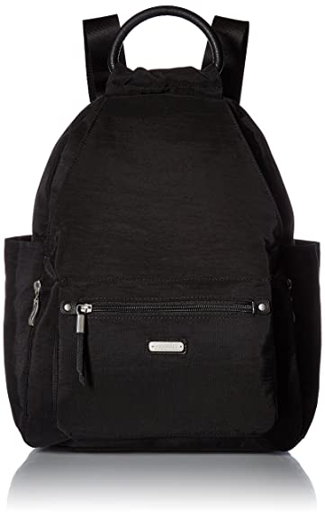 c435cc809d40 Amazon.com  baggallini All Day Backpack with RFID Phone Wristlet (Black)   Shoes
