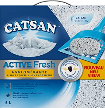 Catsan Active Fresh - Arena aglomerante para Gato - Control de olores - 5 l: Amazon.es: Productos para mascotas