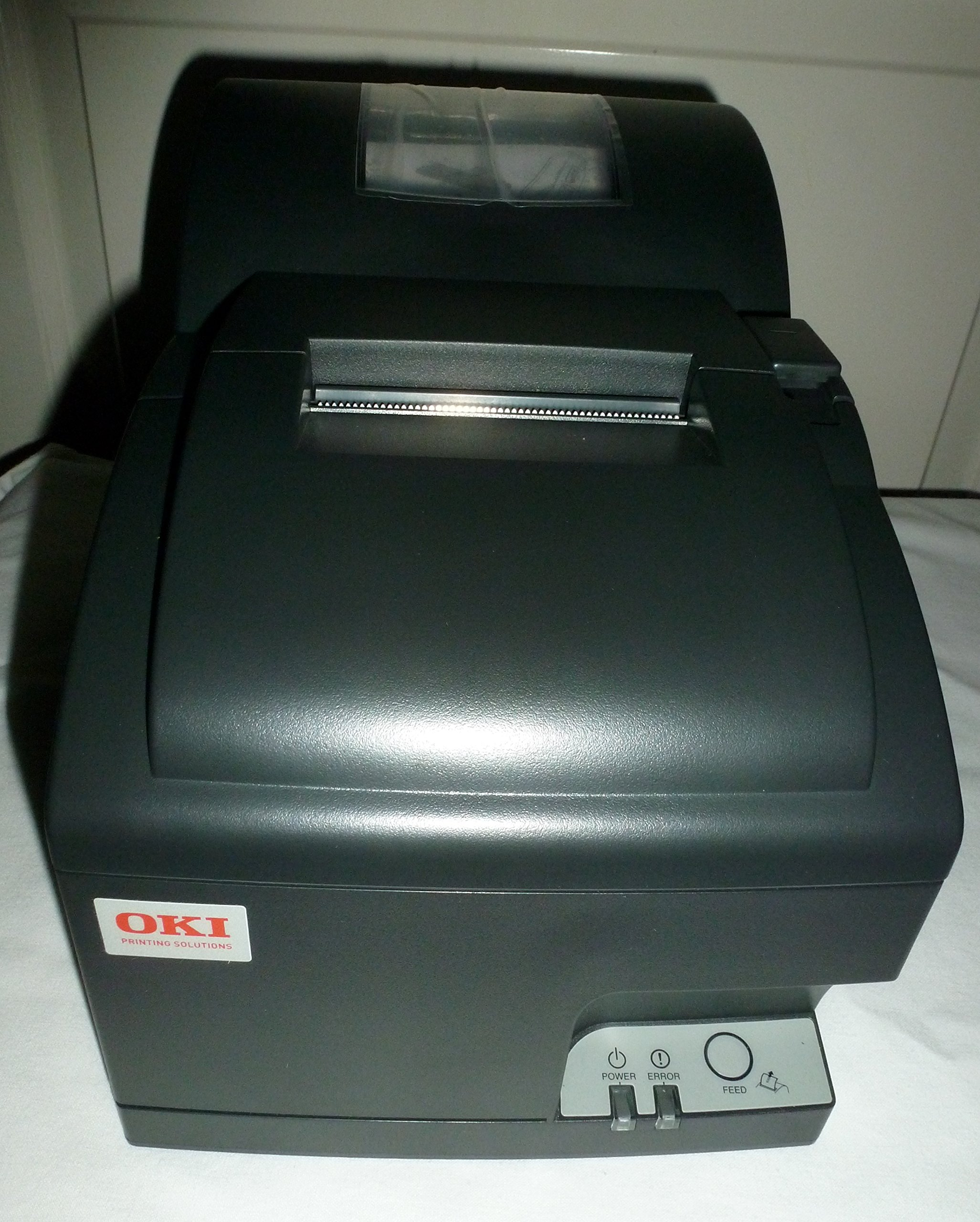 OKI Data OKIpos 441J Serial 9-Pin Dot Matrix Printer, Serial Port, Charcoal by OKIPOS