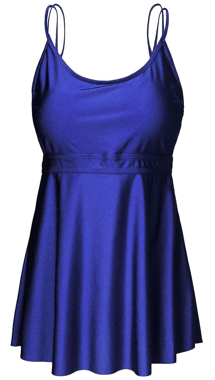 433bbdaac198 Wantdo Women's Slimming Tummy Control Skirtini Swimwear, BlackishGreen, US  10 at Amazon Women's Clothing store: