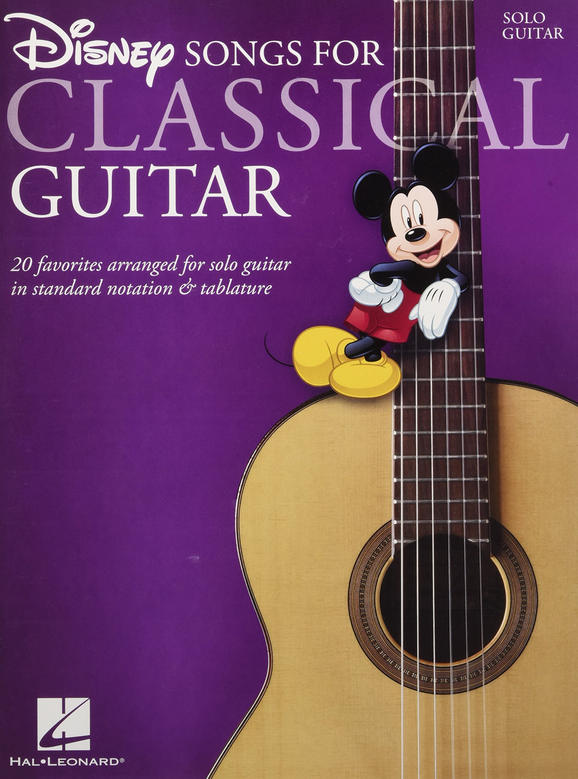 Amazon Disney Songs For Classical Guitarstandard Notation