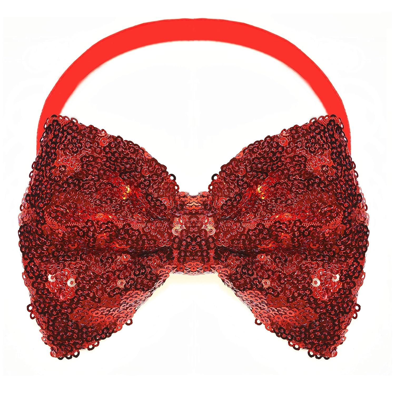 Baby Headband Baby Toddler Child Girls Headband Red Hair Bow Baby Headband Dainty Red Sequin Hair Bow Headband or Hair Clip