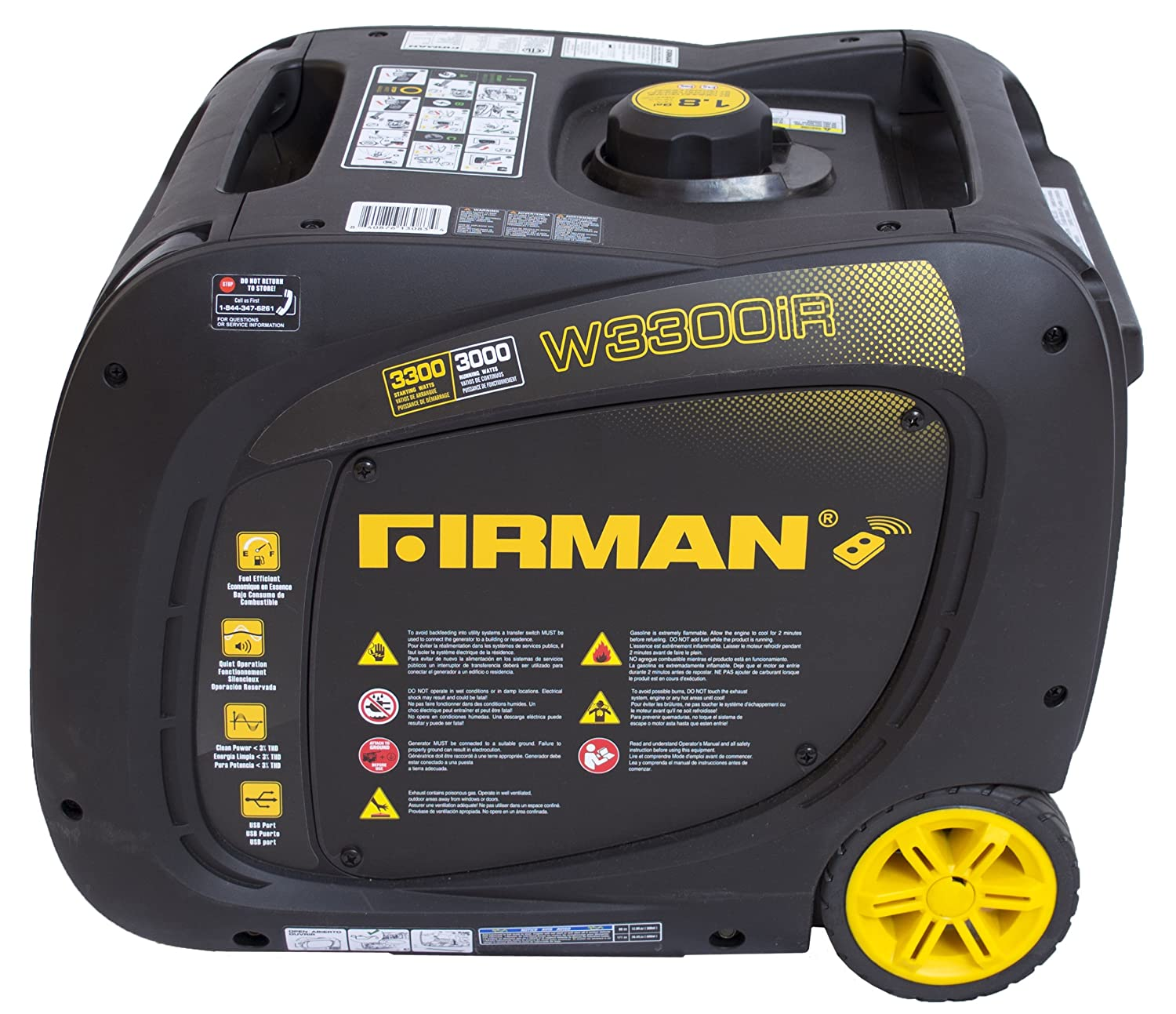 Amazon.com: Firman Power Equipment W03083 3300 Watt CARB Gasoline Inverter Generator with Electric and Remote Start: Garden & Outdoor