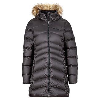 Marmot Women's Montreal Knee-Length Down Puffer Coat, Fill Power 700, Jet Black,Large