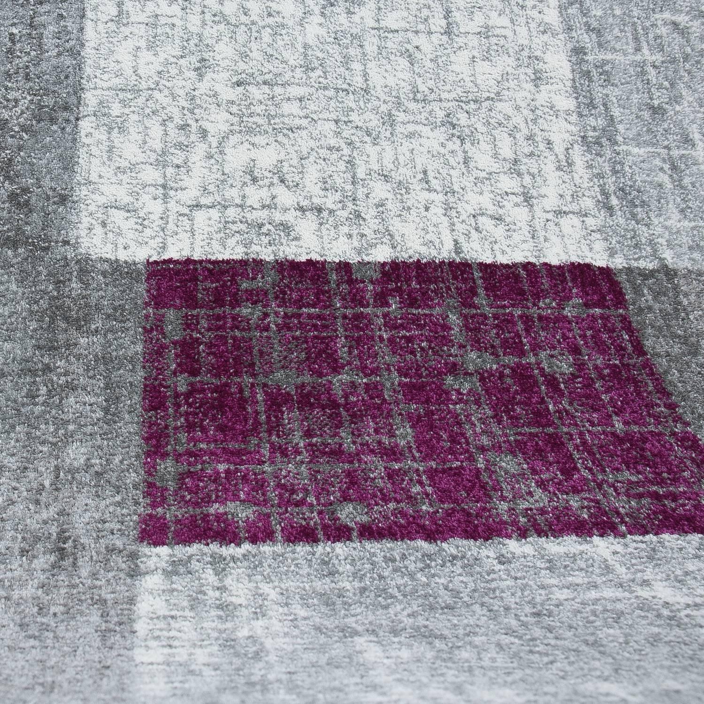 VIMODA Wohnzimmer Teppich Kurzflor in Beige Braun Designer Teppiche Teppiche Teppiche Modern Kachel-Optik Kariert Pflegeleicht, Maße 230x320 cm 3b1e35