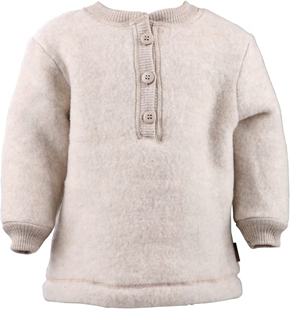 mikk-line 50007-Sudadera Unisex bebé Beige (Melange Offwhite 429) 9 Mes