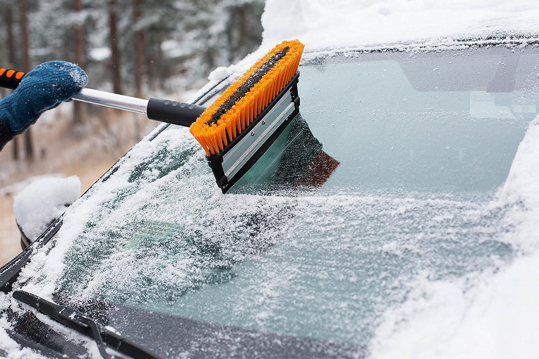 Foam Grip Snow Moover 39 Extendable Snow Brush with Squeegee /& Ice Scraper Auto Ice Scraper Car Truck SUV BirdRock Home Auto Snow Brush