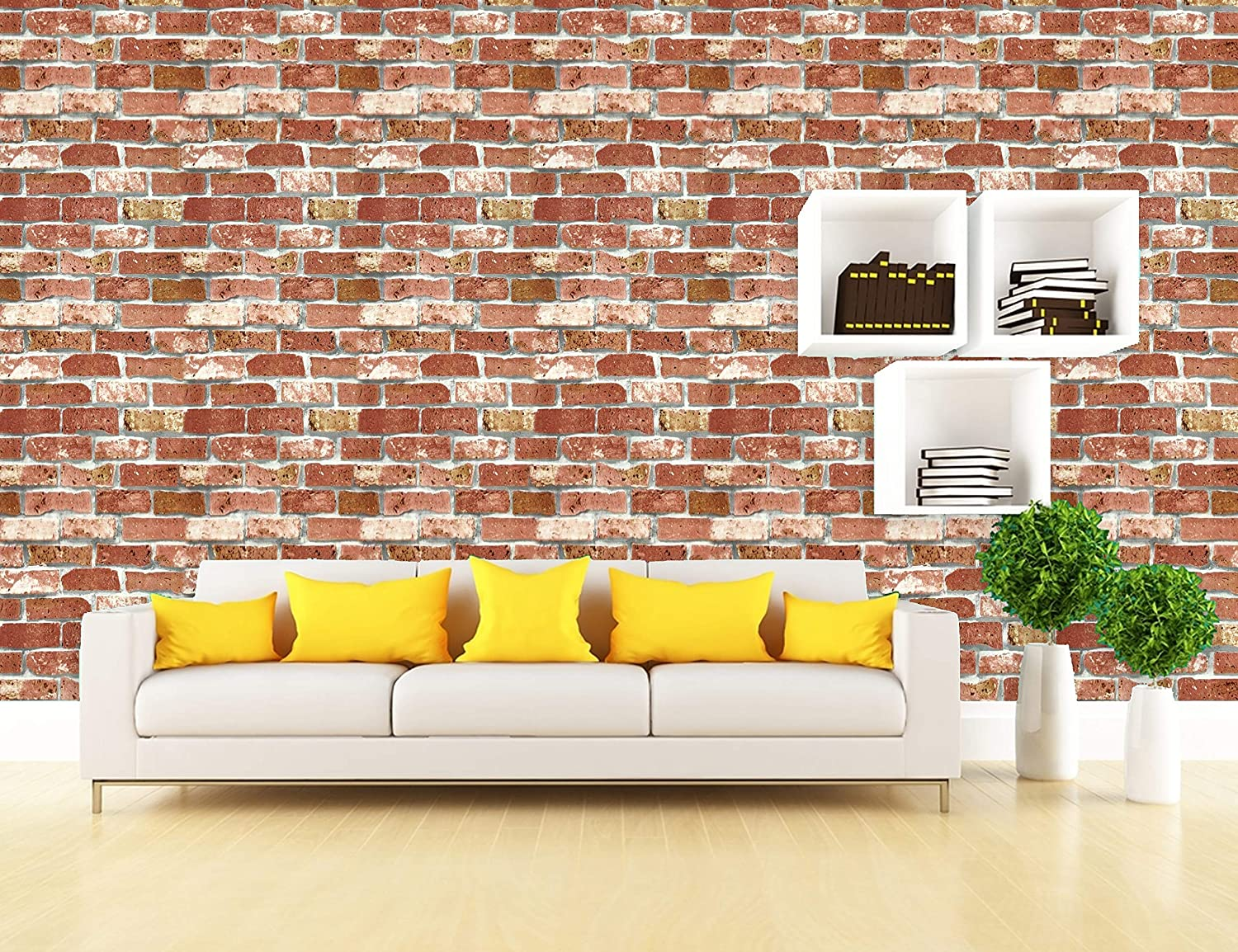 Konark Designer Wallpapers Vinyl 3d Brick Embossed Wallpaper White Amazon In Home Improvement