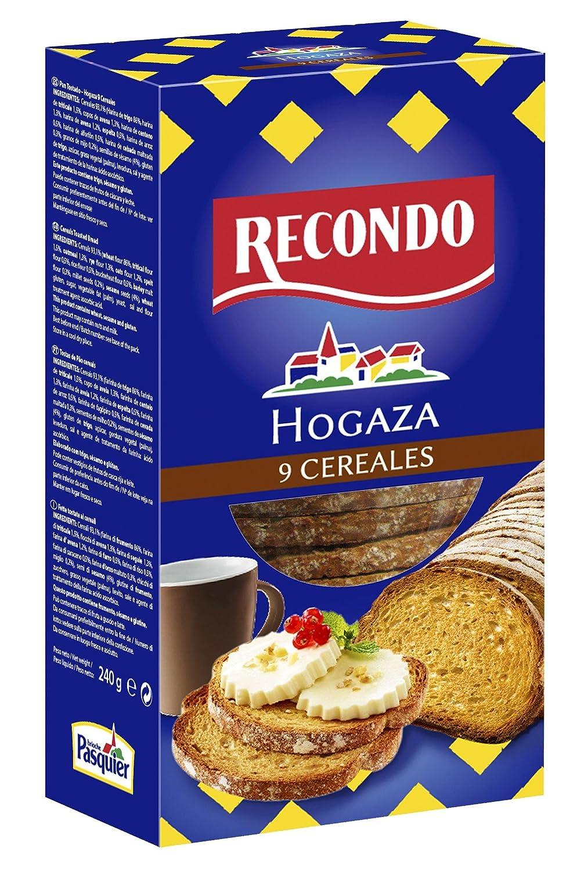 Recondo - Pan Tostado, Hogaza Nueve Cereales, Paquete 240 gr: Amazon.es: Alimentación y bebidas