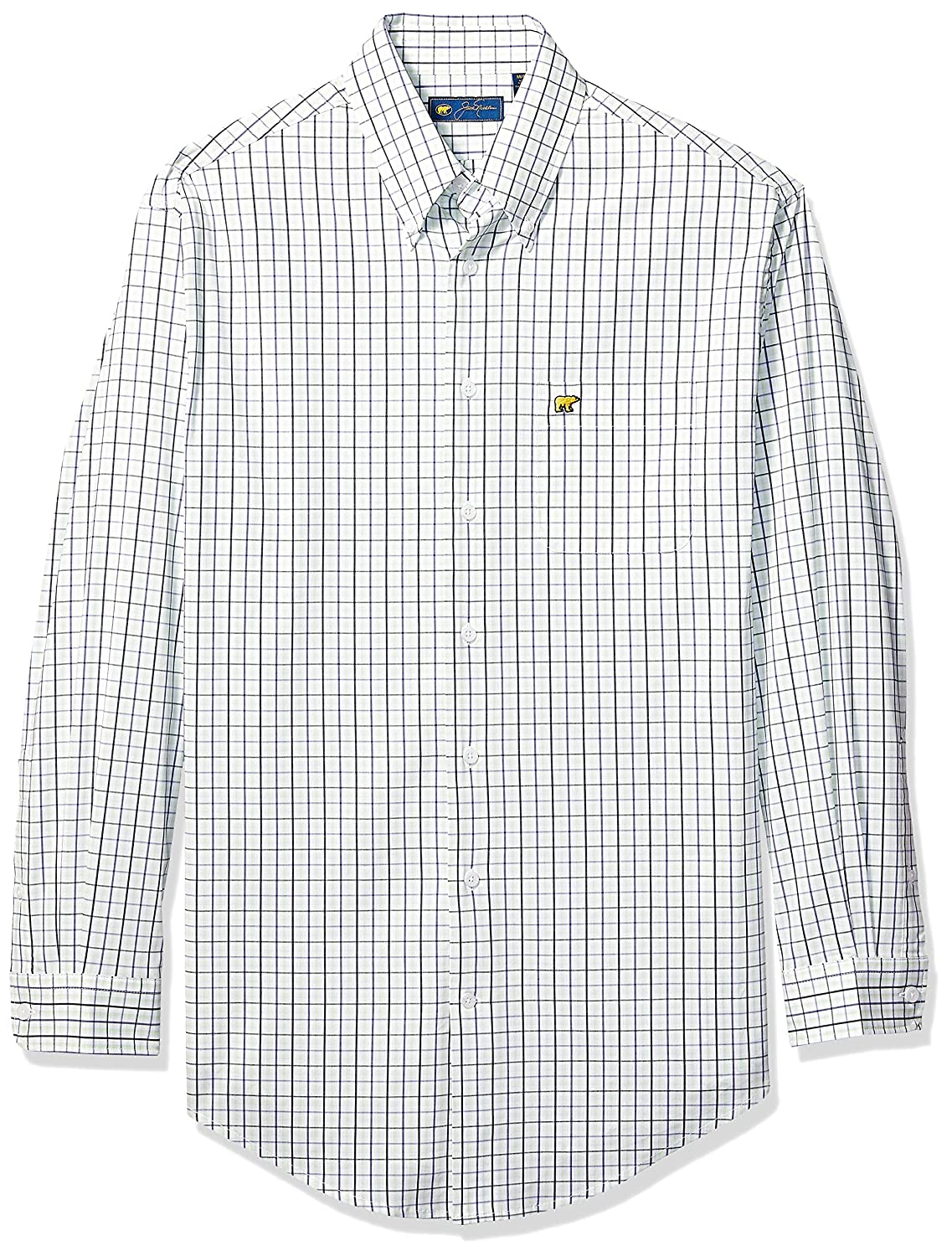 Jack Nicklaus Mens Micro Plaid Long Sleeve Button-Down Shirt