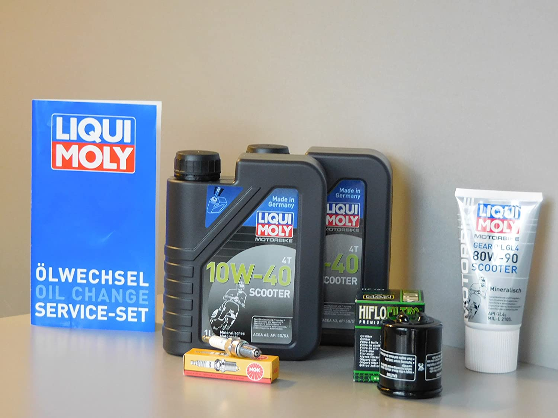 MotorFunSports Kit de mantenimiento Piaggio X7 125 Aceite de ...