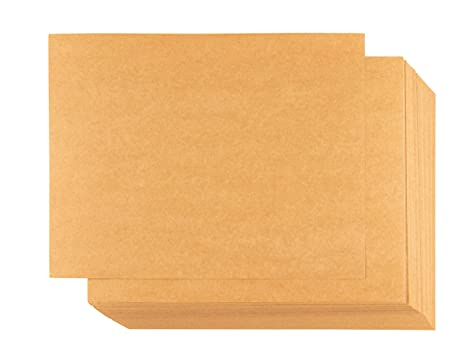 picture relating to Printable Blank Note Cards named Kraft Paper - 100-Sheet Kraft Stationery, Printable Blank Take note Playing cards for Inkjet and Laser Printers, 4 Playing cards For every Web page 400 inside of Quantity, Perforated, 8.5 x