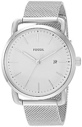 Amazon.com  Fossil Women s The Commuter Quartz Stainless Steel Mesh ... 5f237cc4d492