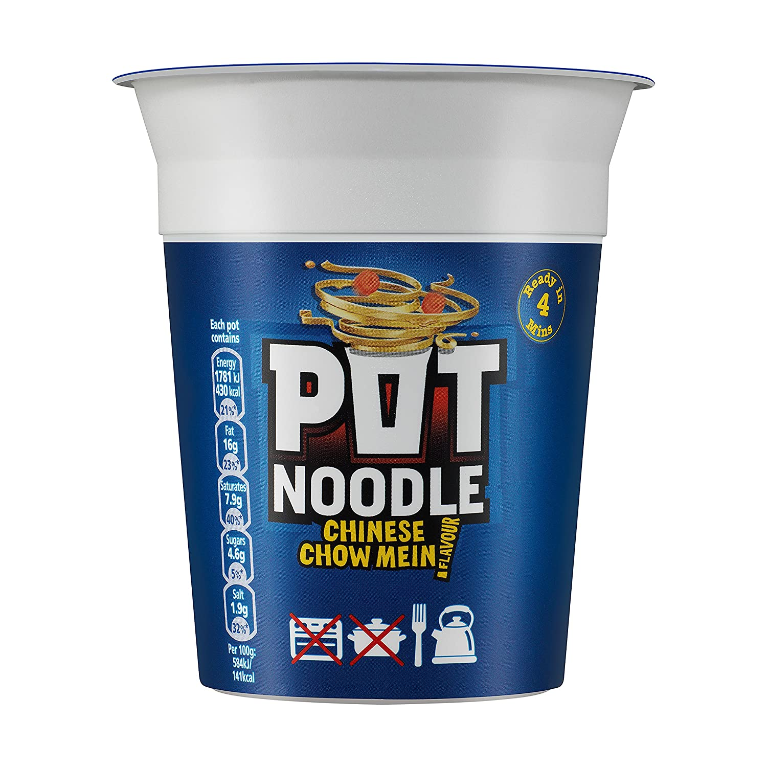 Chinese Chow Mein Pot Noodle 90g (Pack of 12)