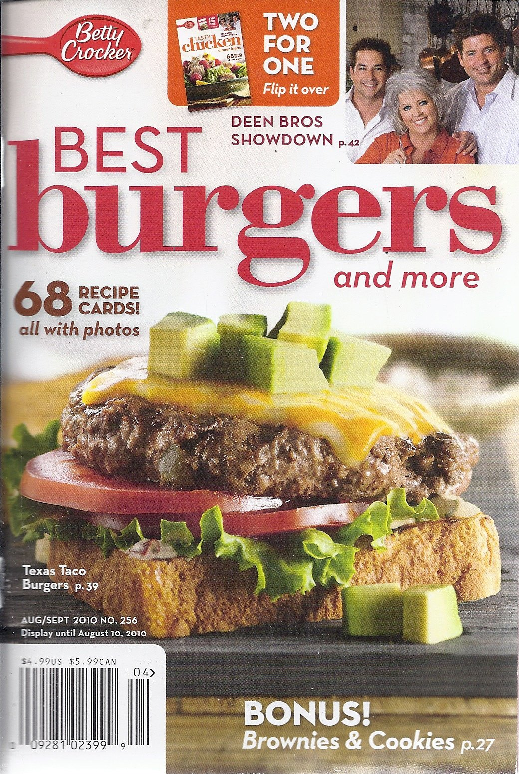 Betty Crocker Best Burgers & More (August/ September 2010 - Two For One: Tasty Chicken Dinner Ideas) ebook