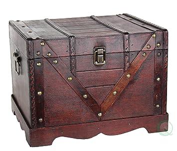 Wooden Treasure Box Old Style Treasure Chest  sc 1 st  Amazon.com & Amazon.com: Wooden Treasure Box Old Style Treasure Chest: Kitchen ... Aboutintivar.Com