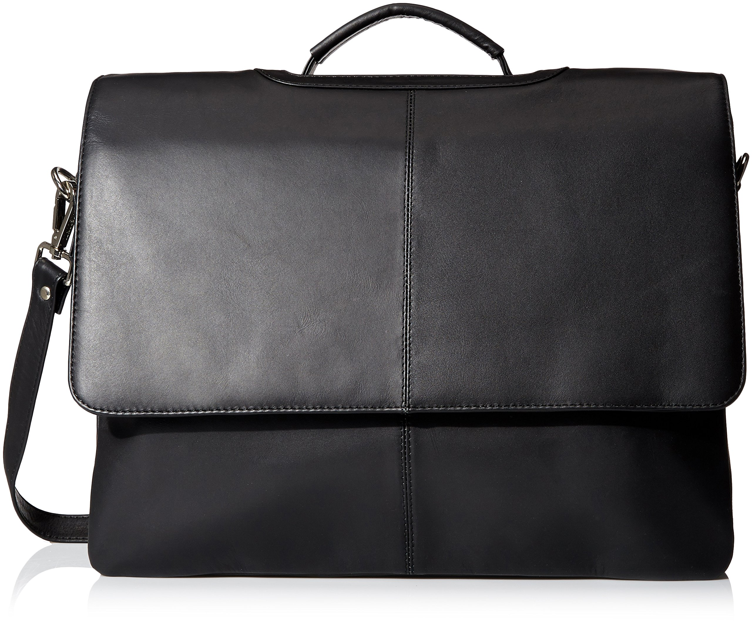 Visconti Visconti Leather Business Case Bag, Briefcase, Handbag Large, Black, One Size