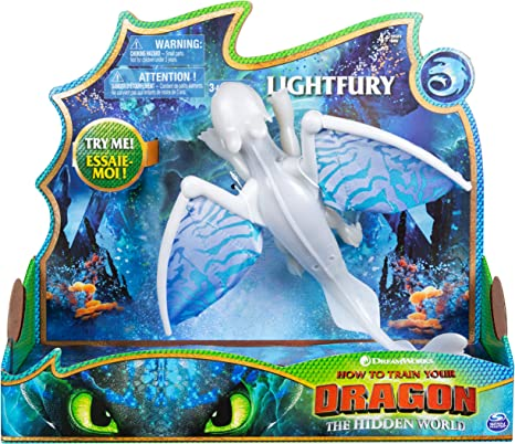 DreamWorks Dragons The Hidden World Deluxe Dragon Toothless with Lights /& Sound
