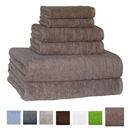 Super Absorbent And Soft Hotel U0026 Spa Quality, 100% Genuine Cotton, 6 Piece