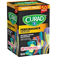 Curad Performance Series Adhesive Bandages, Assorted Variety Pack Includes Standard, XL, Finger & Knuckle Bandages…