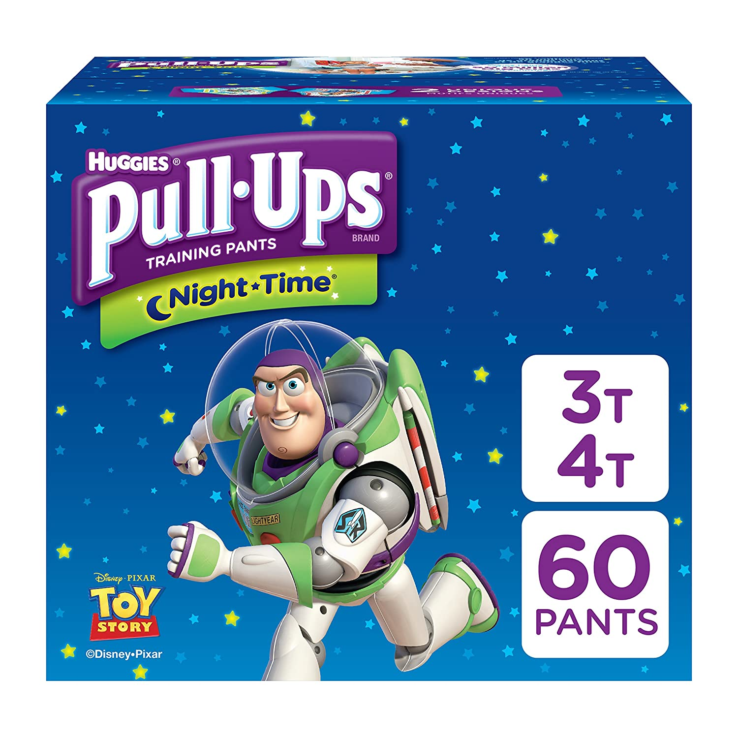 Pull-Ups Night-Time Potty Training Pants for Boys, 3T-4T (32-40 lb.), 60 Count Pull ups