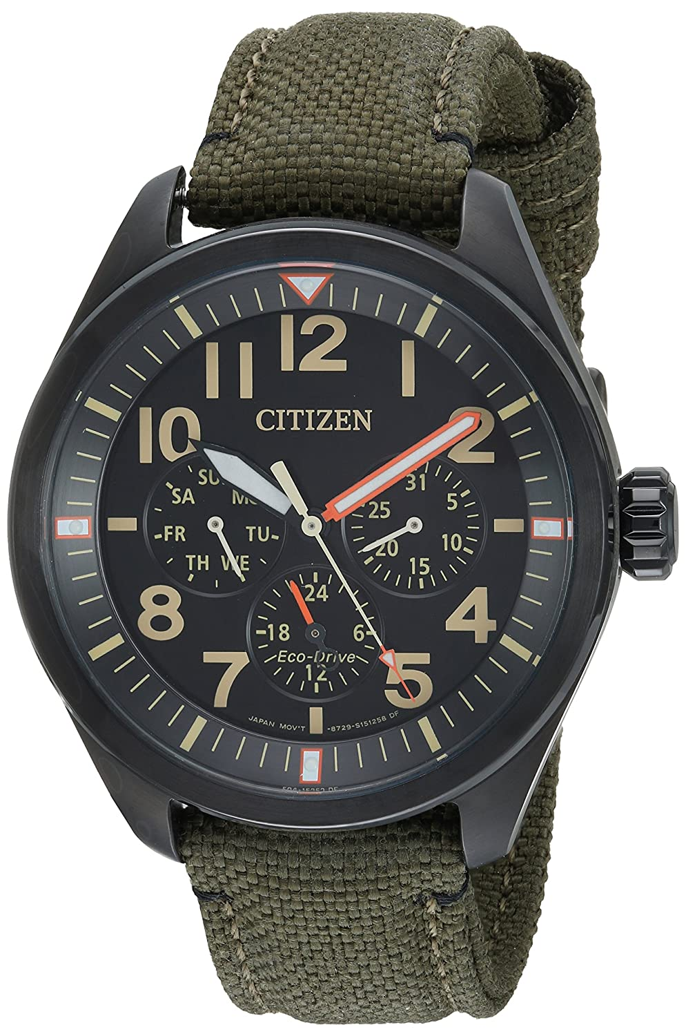 bb0335b8354 Amazon.com  Citizen Men s  Military  Quartz Stainless Steel and Nylon  Casual Watch