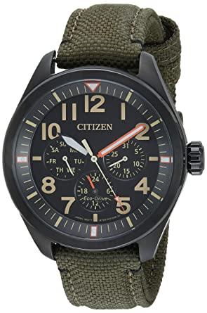 Citizen Men s  Military  Quartz Stainless Steel and Nylon Casual Watch c4b56ac9f