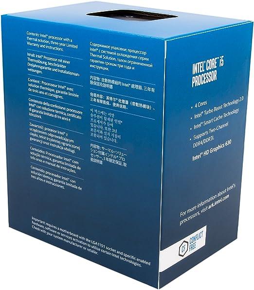 CPU Intel Core i5-7600 QuadCore a 3,5 GHz 6 MB de caché, Negro: Amazon.es: Informática