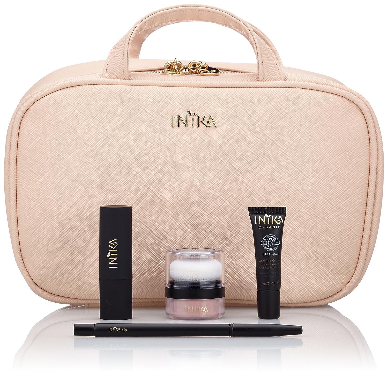 11f9c966323 Amazon.com: Inika Lip & Cheek Set, Gift Set All Natural Makeup, Organic  Primer, Mineral Puff Pot, Organic Vegan Lipstick, Vegan Lip Brush, Vegan  Travel ...