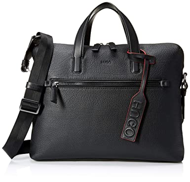 09aa20ddae Amazon.com: HUGO by Hugo Boss Men's Victorian Leather Single Document Case,  Black, One Size: Clothing