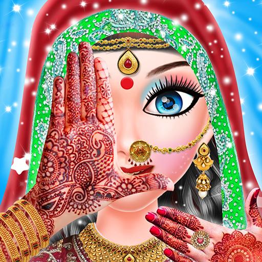 Indian Wedding Girl Makeup And Mehndi -