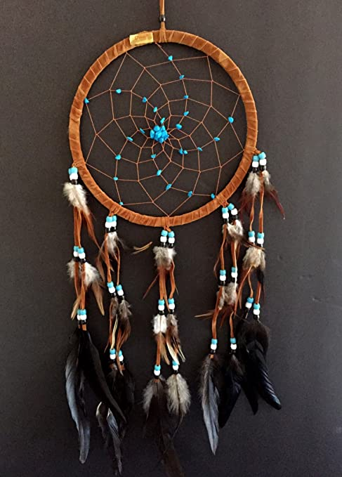 "Dream Catcher Dreamcatcher Brown White Orange 10"" Long"