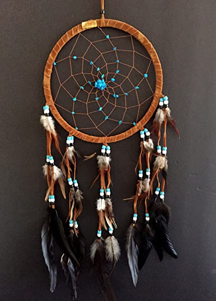 What Are Dream Catchers For Simple Amazon Dream Catcher DreamCatcher BROWN SUEDE WITH TURQUOISE