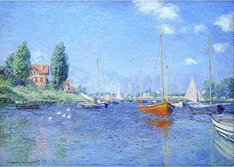 Amazon Com Red Boats Argenteuil 1875 Oil On Canvas By Claude Monet Posters Prints