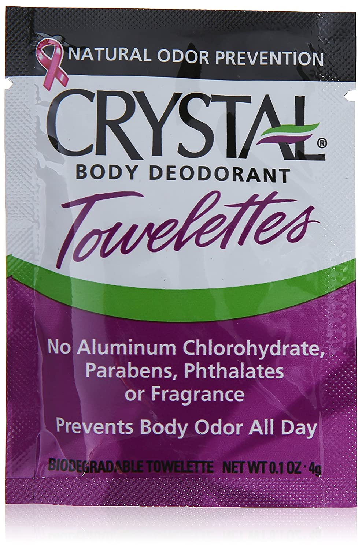 Crystal Body Deodorant 100% Biodegradable Deodorant Towelettes Original