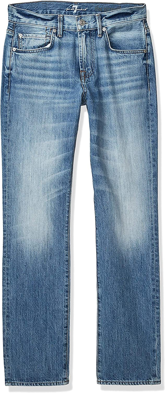 7 For All Mankind Men's Standard Tapered Straight Leg Jeans
