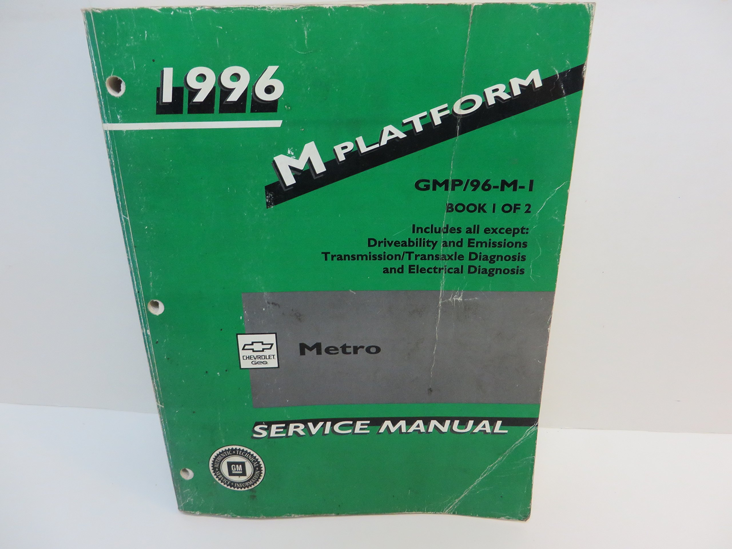 1996 Geo Metro Service Manual Book 1: GM, CHEVROLET: 0734524833034:  Amazon.com: Books