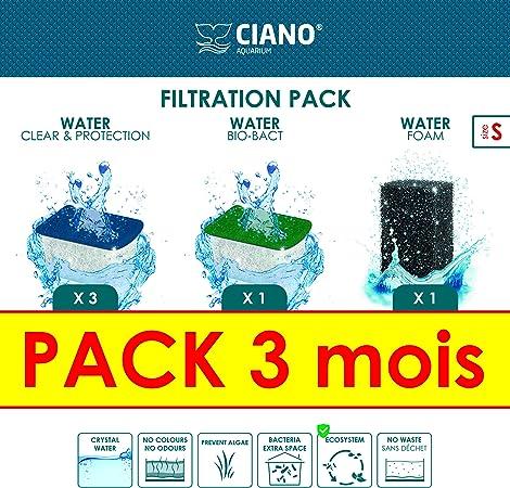 Ciano Acuario Consumables Pack 3 Meses para acuariofilia Talla S ...