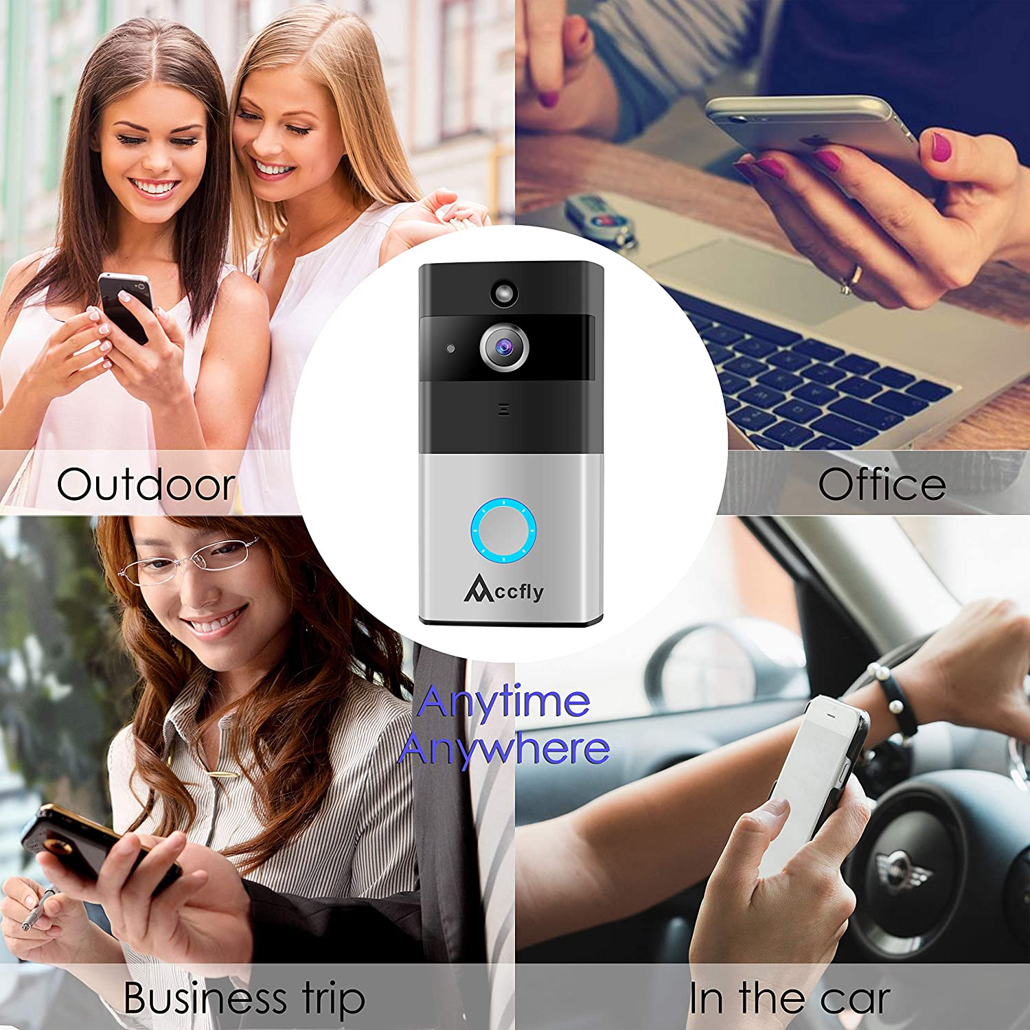 Video Doorbell Accfly 720p Hd Wifi Security Camera Wiring Up Photo