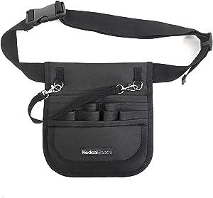"Medical Organizer Belt (Fits 34""- 48"" Waist) - Nurse Fanny Pack with Tape Holder - Premium Utility Nurse Belt, EMT, CNA, NP, PA - Multi Compartment Nurse Apron Hip Bag"