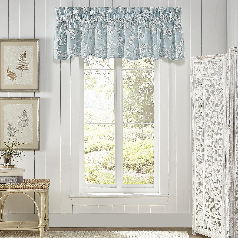 Croscill Willa Window Valance, Soft Aqua