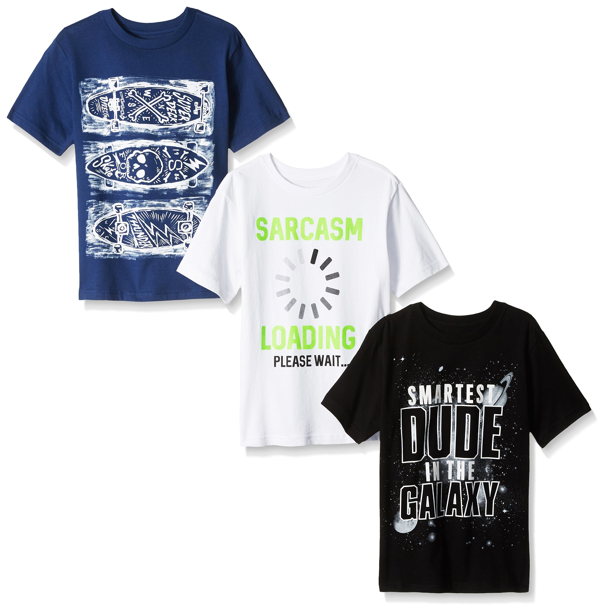 The Children's Place Boys' Big Graphic Tees (Pack of 3), Multi, S (5/6)