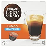 Nescafe Dolce Gusto Lungo Decaff Coffee Pods 16 Drinks - Pack of 3 (Total 48 Capsules)