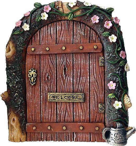 13cm High Set Of 4 Pretty Fairy Garden Doors