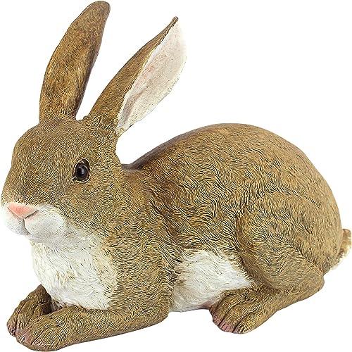 Design Toscano QM200861 Bashful the Bunny Lying Down Rabbit Outdoor Garden Statue