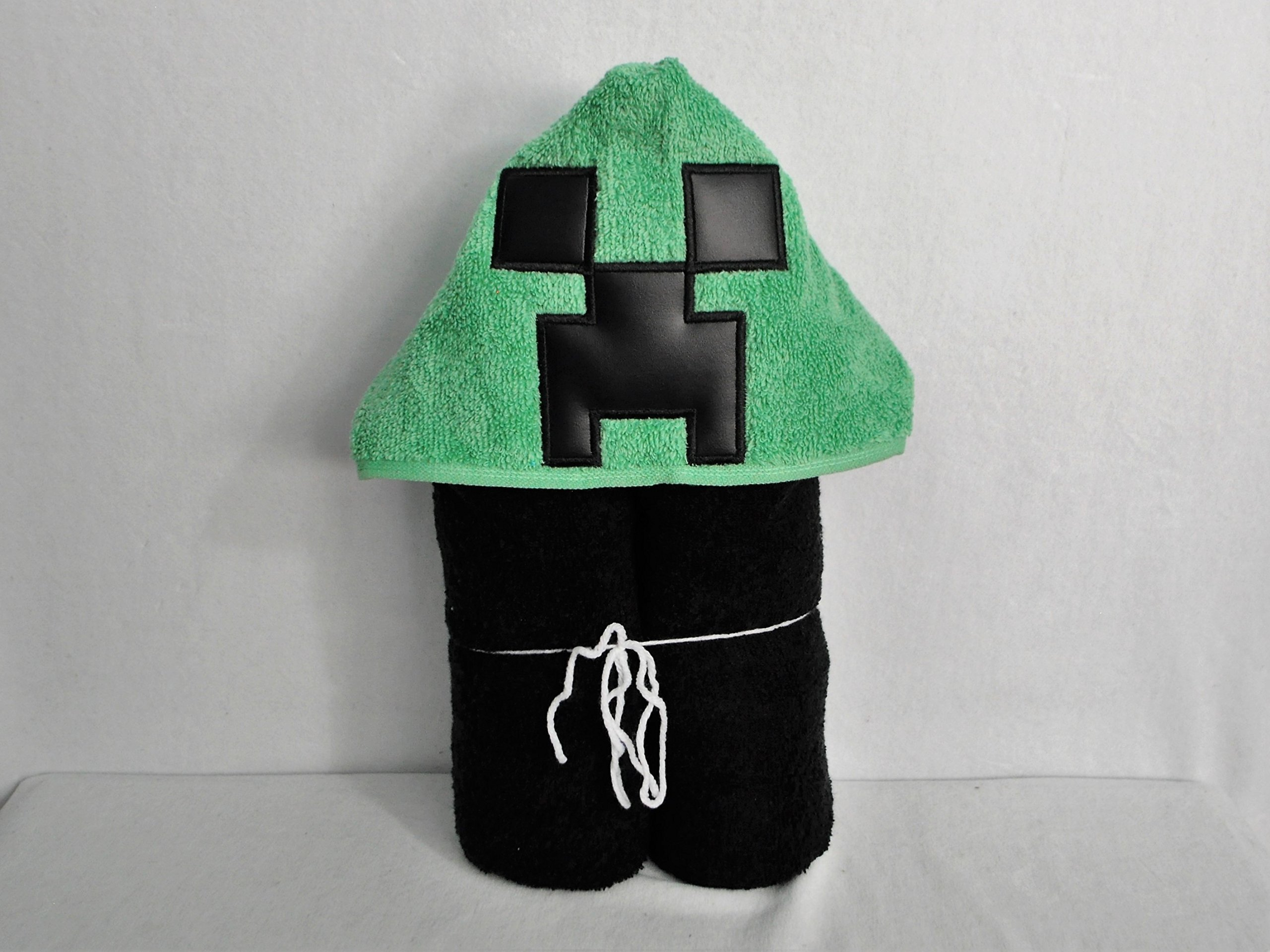 Green Creepy Game Guy Plumber Hooded Bath Towel - Baby, Child, Tween